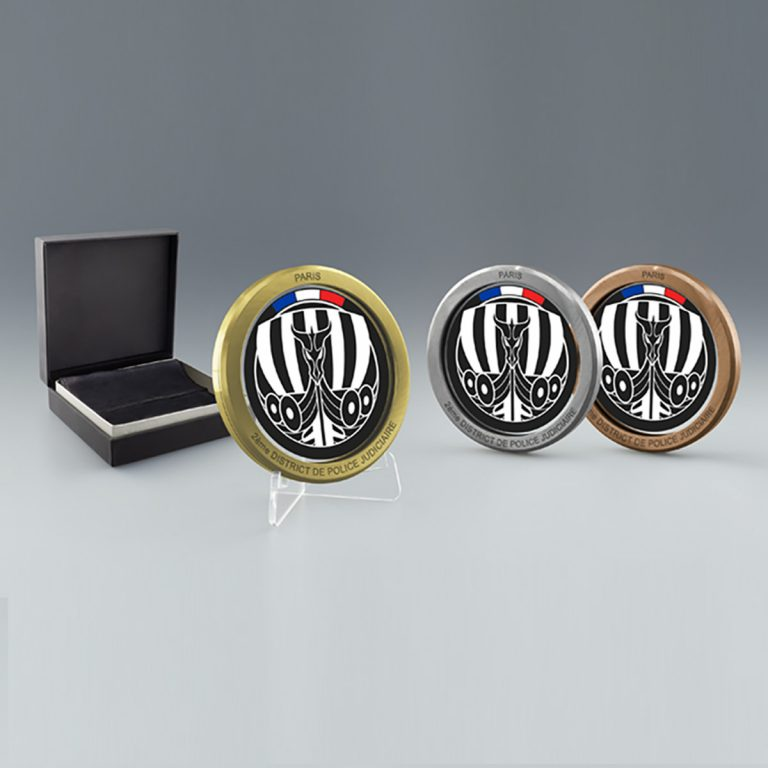Merci et Bravo - Médaille Bronze Verre et Métal (Zamack) gravure Anneau de Sertissage