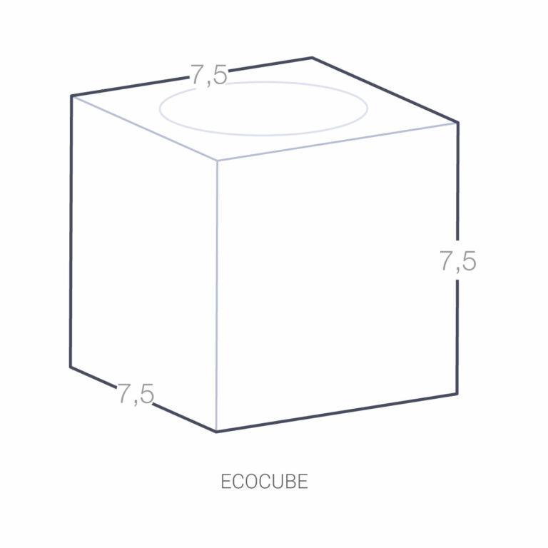 Ecocube à Personnaliser avec logo couleur ou gravé