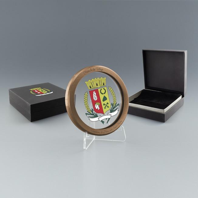 Médaille personnalisable bronze avec boite cadeau