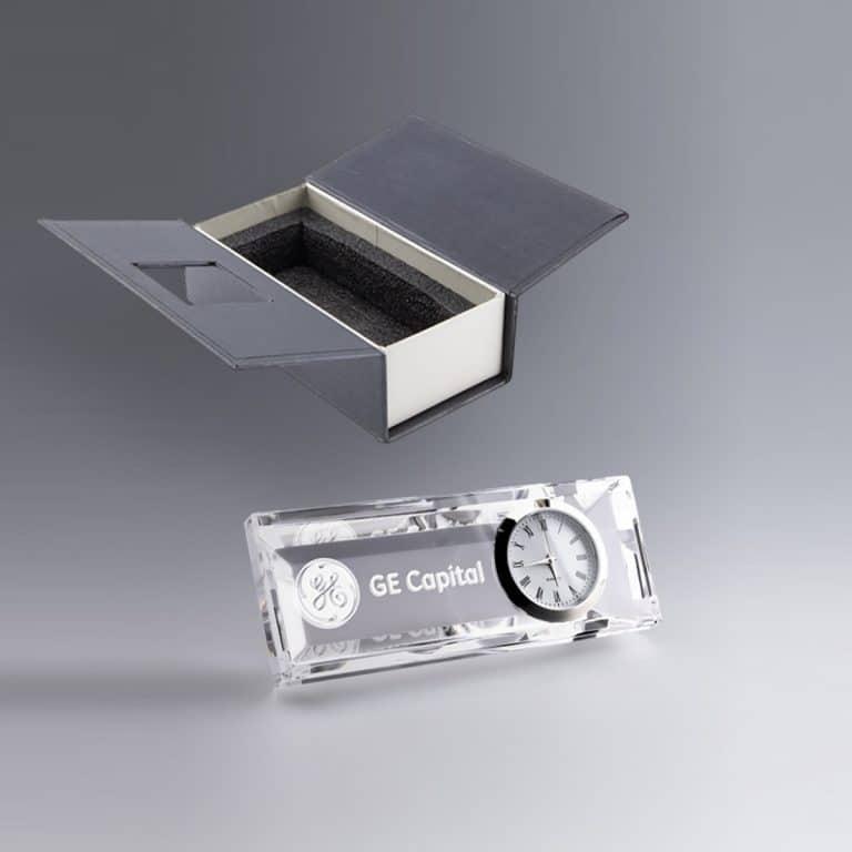 Pendulette Bureau Verre Optique  Personnalisée Gravée