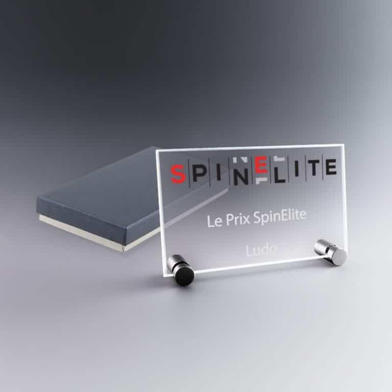 Trophée plaque en verre personnalisable