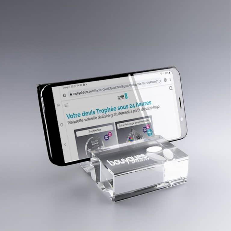 Support Smartphone Universel en Verre 8 x 8 x 3 cm à Personnaliser