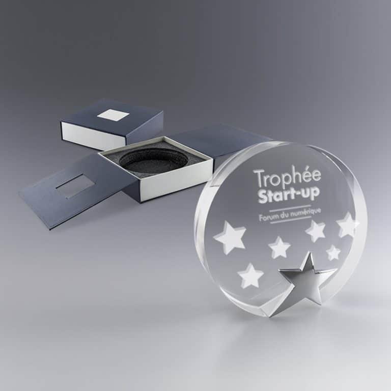 Trophée cadeau Star marquage couleur et/ou gravure laser