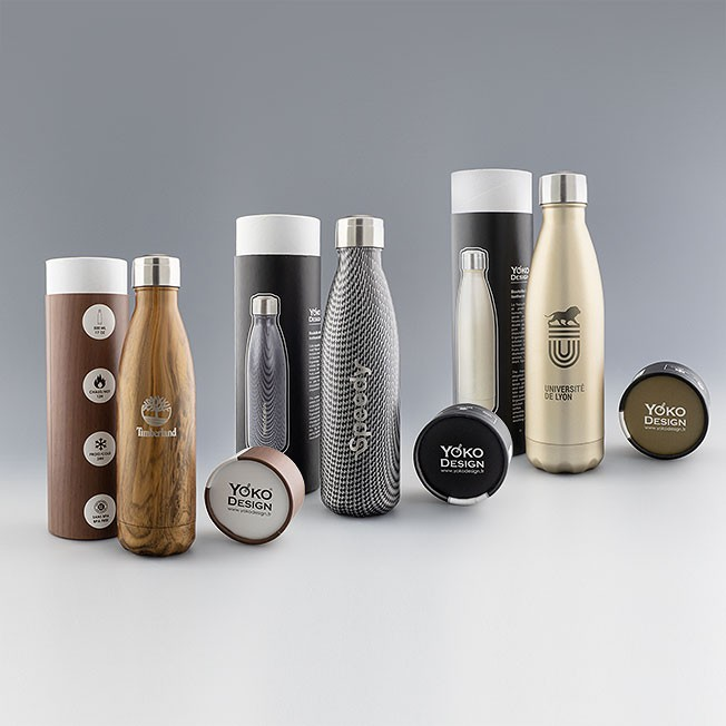 Zone de personnalisation bouteille isotherme Inox