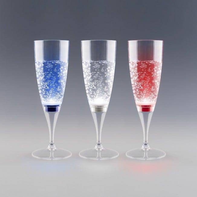 Flûte à Champagne Lumineuse Allumage Instantané Coloris Bleu