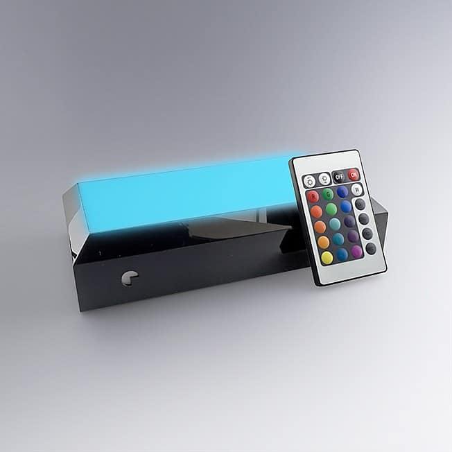 Socle rectangulaire jeux de lumières pour blocs trophées verre personnalisés
