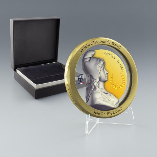 Medaille du travail 40 ans, Médaille grand or, Médaille personnalisée grand or