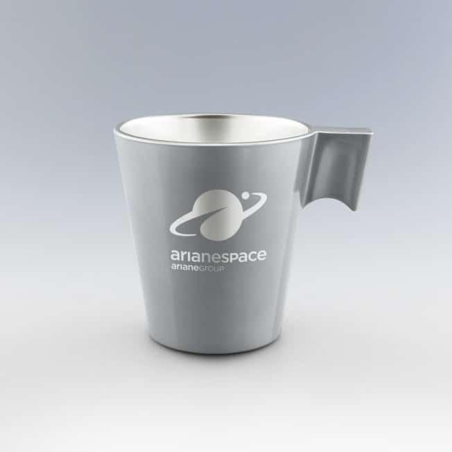 Mug personnalisé argent Mug en verre