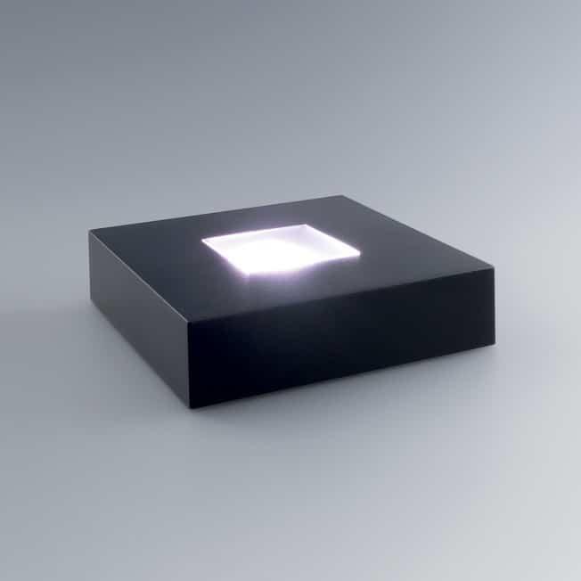 Socle Lumineux Carré, Complément Idéal Trophée Personnalisé Gravé 3D