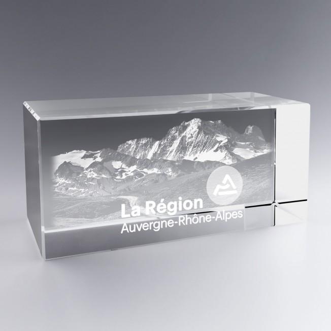 Trophée Verre Horizontal 30 cm à Personnaliser