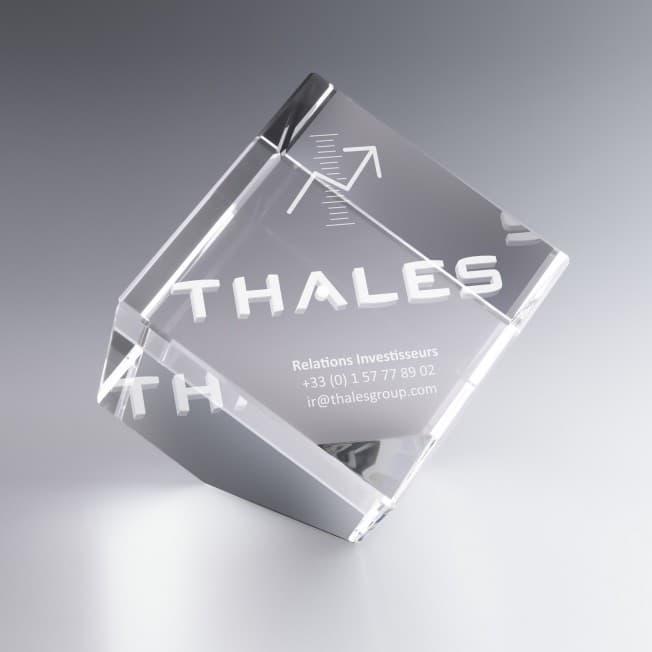 Trophée Cube Verre Pan Coupé 10 cm à Personnaliser