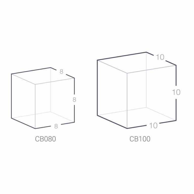 Trophée Cube Verre 8 et 10 cm à Personnaliser